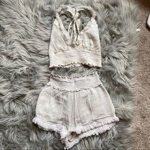 Super cut top and shorts set. Only worn once